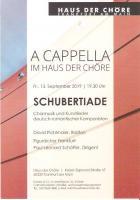 """A Cappella im Haus der Chöre: """"Schubertiade"""